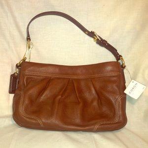 NWT Coach Signature Tan Pebbled Leather HoBo Bag